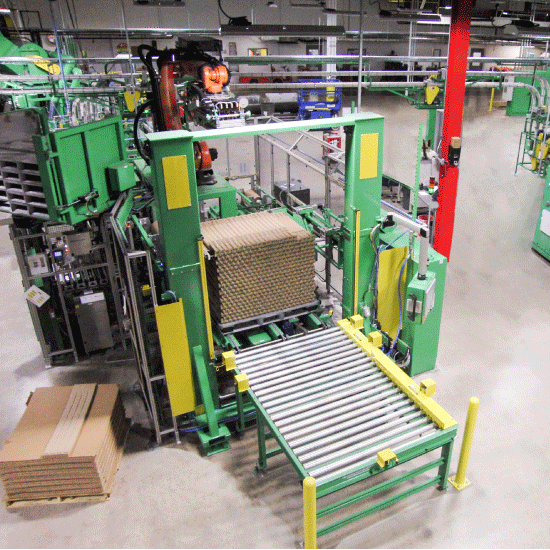 Automatic Counter Bagger Robotic Palletizer