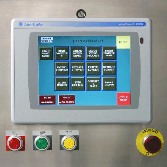 Z-Pro Series Casepacker Control Panel