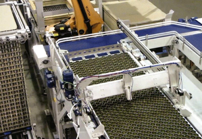 Robotic Bulk Palletizer