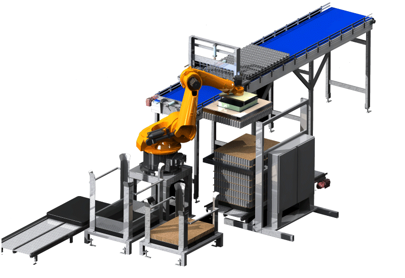 Robotic Bulk Palletizer