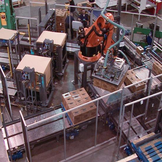Low Level Robotic Case Palletizer
