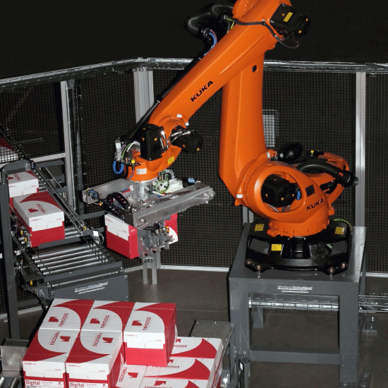 Low Level Robotic Case Palletizer