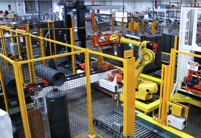 Robotic Cylinder Palletizer