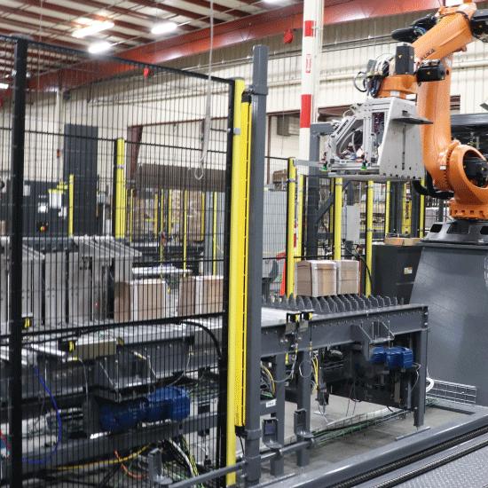 Robotic Bundle Palletizer, discharge view